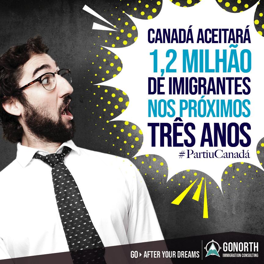 Canadá quer 1,2 milhões de imigrantes